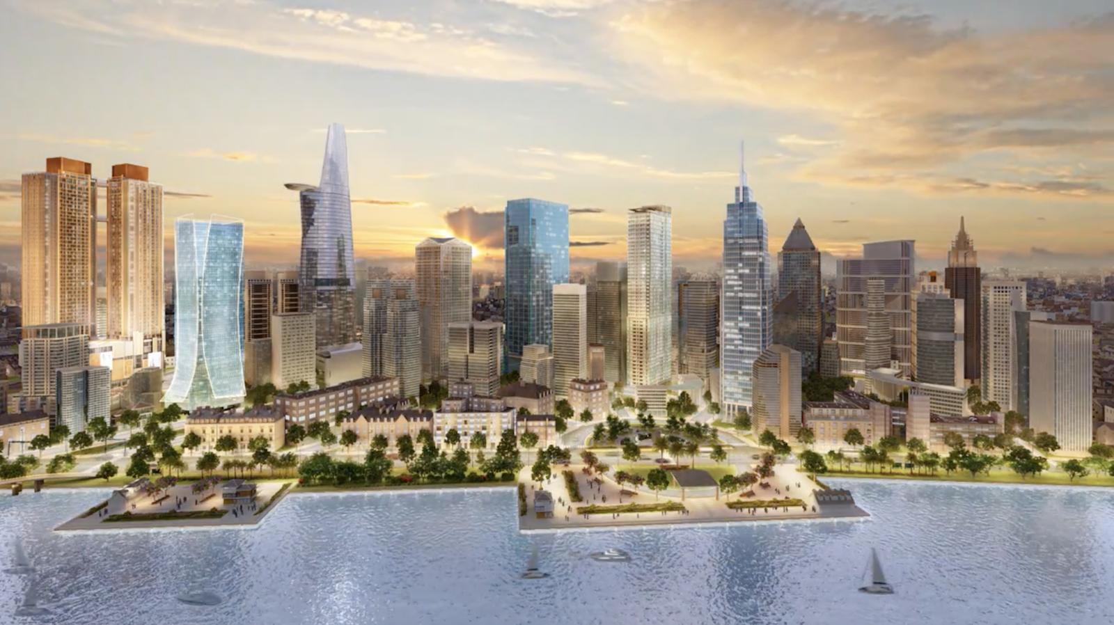 Phối cảnh One Alpha Riverside District One - dự án sắp ra mắt của Alpha King tại khu phức hợp Ba Son