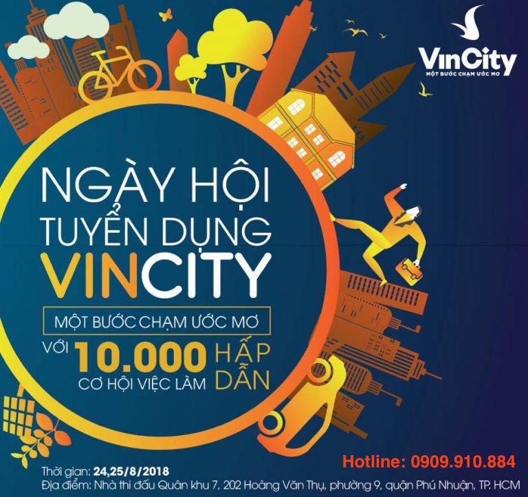 Ngày hội tuyển dụng VinCity của Vingroup với 10.000 cơ hội việc làm