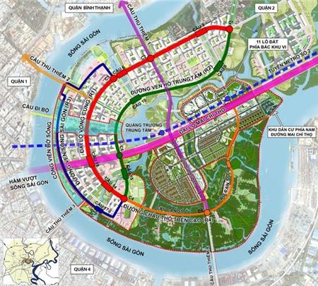 Qui hoạch khu đô thị mới Thủ Thiêm, quận 2