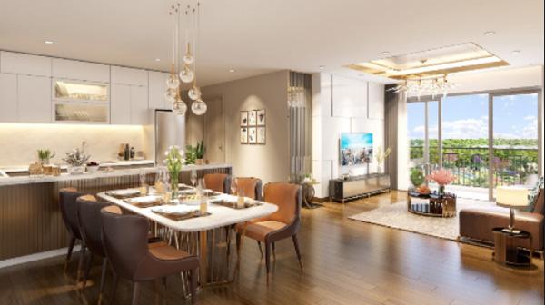 thiết kế căn hộ 3 phòng ngủ Eco-Green Sài Gòn đẳng cấp sang trọng