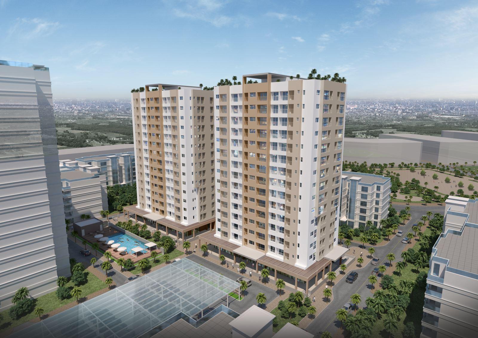 Chung cư căn hộ tại dự án khu dân cư An Sương