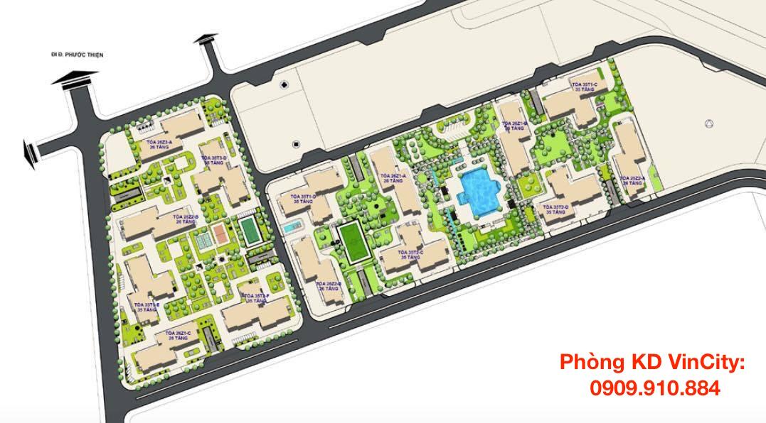Mặt bằng khu căn hộ The Light VinCity Grand Park quận 9