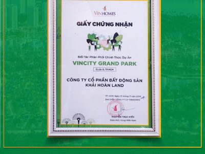 Khải Hoàn Land chính thức phân phối VinCity Grand Park quận 9