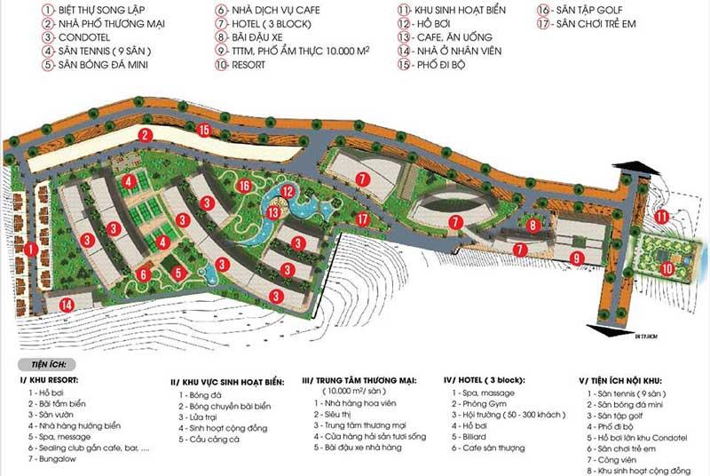 Mặt bằng thiết kế Aloha Beach Village Phan Thiết