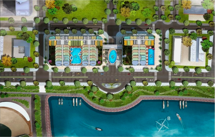 Mặt bằng tổng thể dự án Swisstouches La Luna Resort Nha Trang