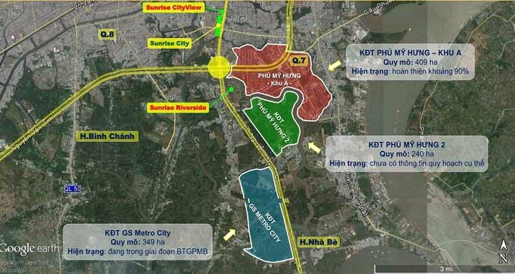 Vị trí dự án GS Metrocity Nhà Bè