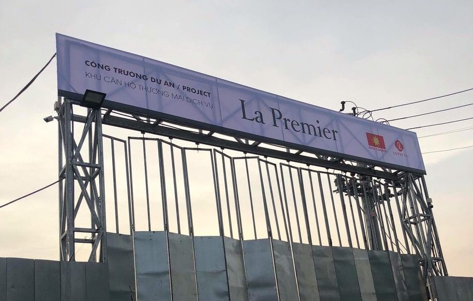 công trường dự án La Premier Quận 2