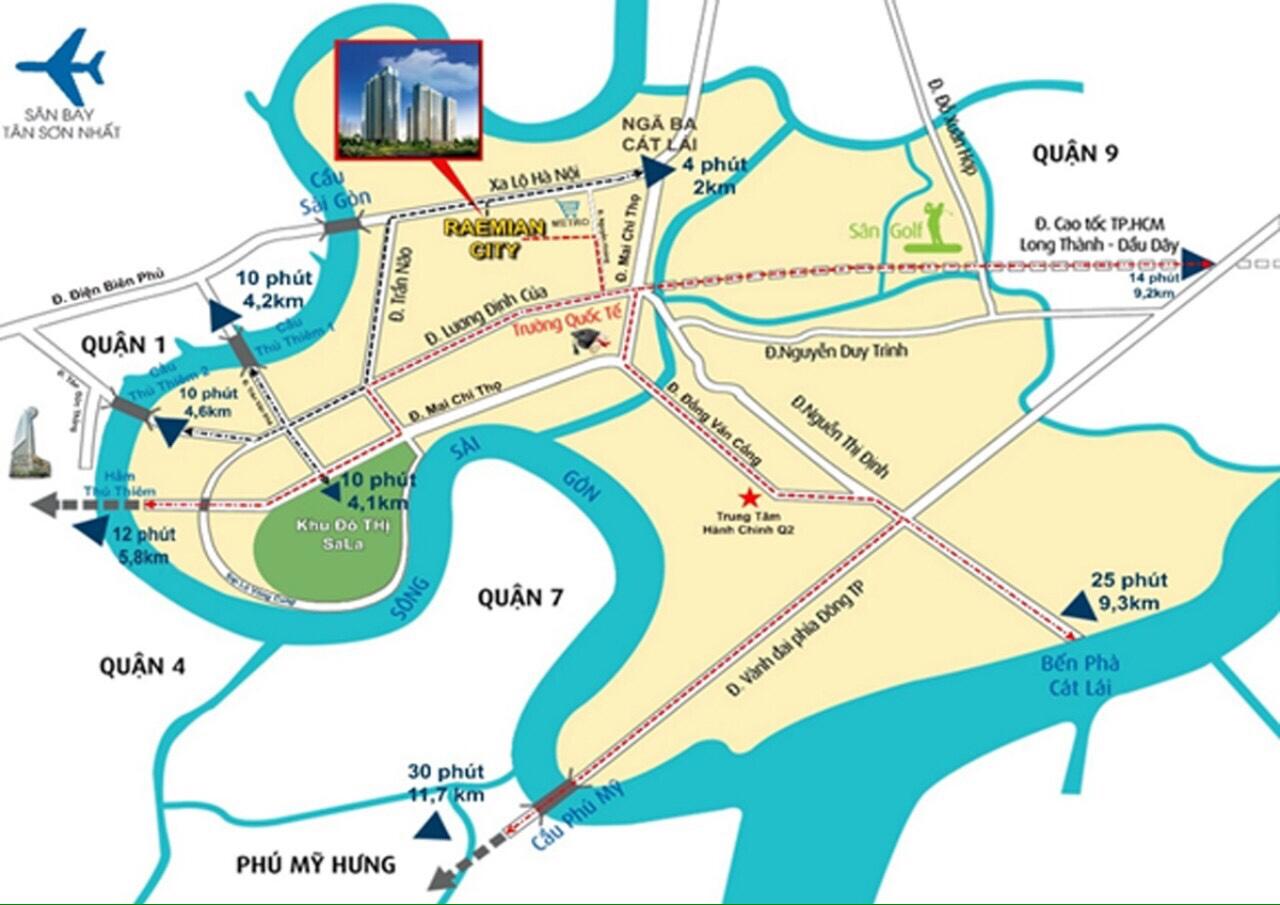 Bản đồ vị trí Reamian City quận 2
