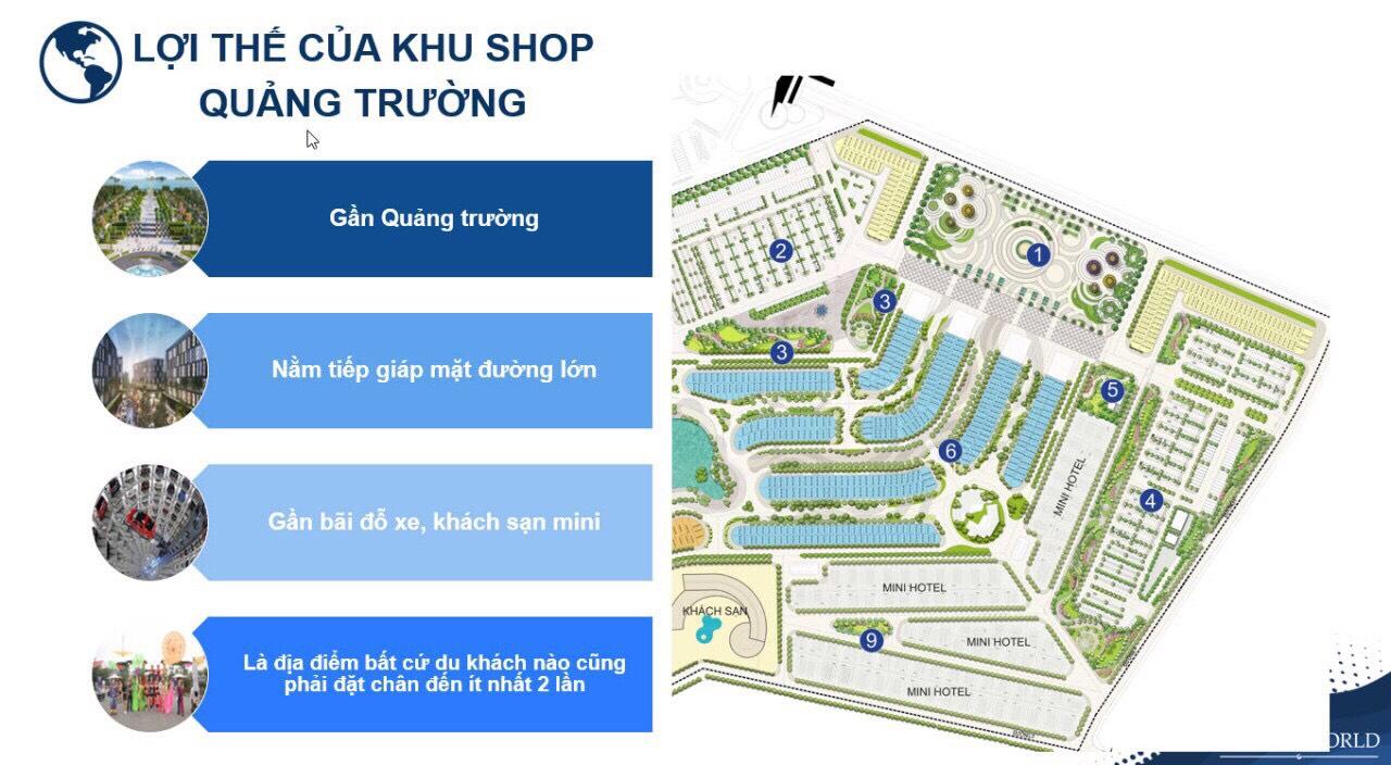 Ưu điểm và lợi thế khu thương mại Shop Quảng trường