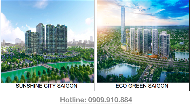 Sunshine City Sài Gòn và Eco Green Sài Gòn