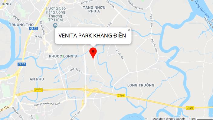 vị trí khu nhà phô venita park