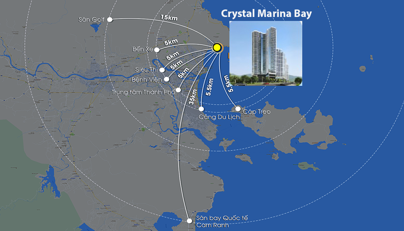 vị trí Crystal Marina Bay
