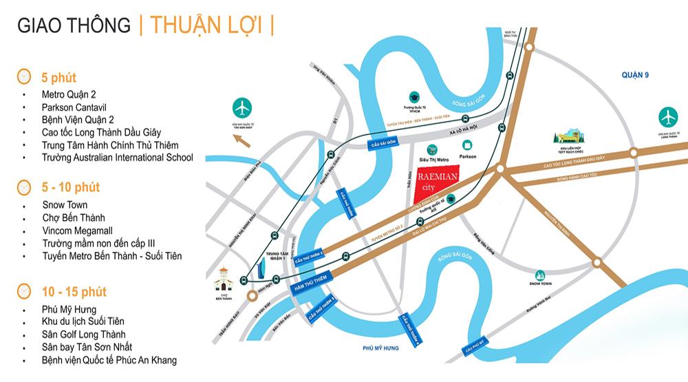vị trí laimian city
