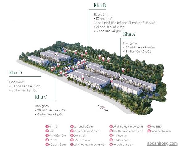 mặt bằng tiện ích Verosa Park Khang Điền