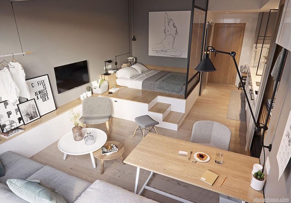 Thiết kế căn hộ The Riverin Thủ Thiêm Quận 2