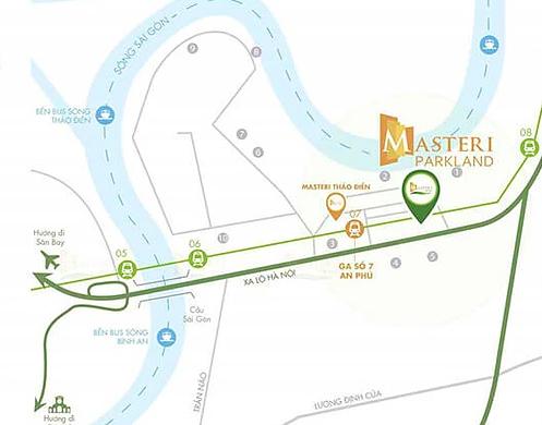 vị trí Masteri Parkland