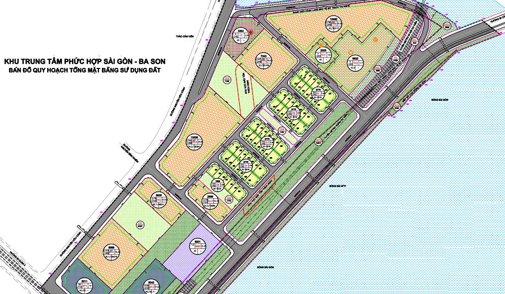 Bản đồ Quy hoạch khu phức hợp Sài Gòn - Ba Son