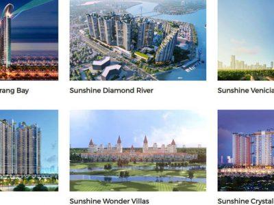 danh sách dự án Sunshine