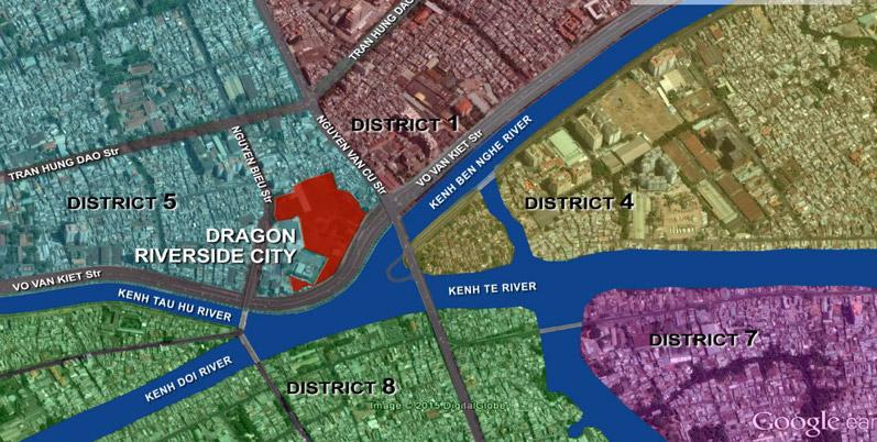 vị trí Dragon Riverside City quận 5
