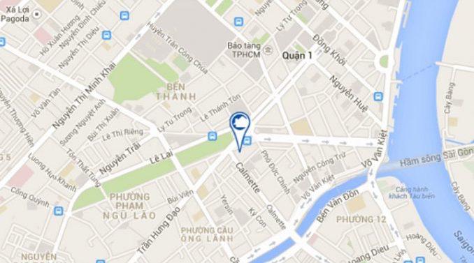 bản đồ vị trí The Spirit of Sài Gòn