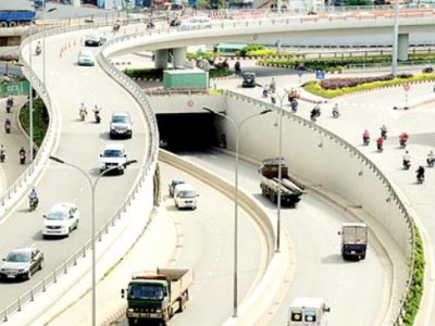 nút giao thông Nguyễn Văn Linh - Nguyễn Hữu Thọ, quận 7