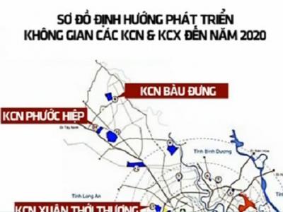 KCN Bàu Đưng, KCN Phước Hiệp tại Củ Chi và Xuân Thới Thượng tại Hóc Môn.