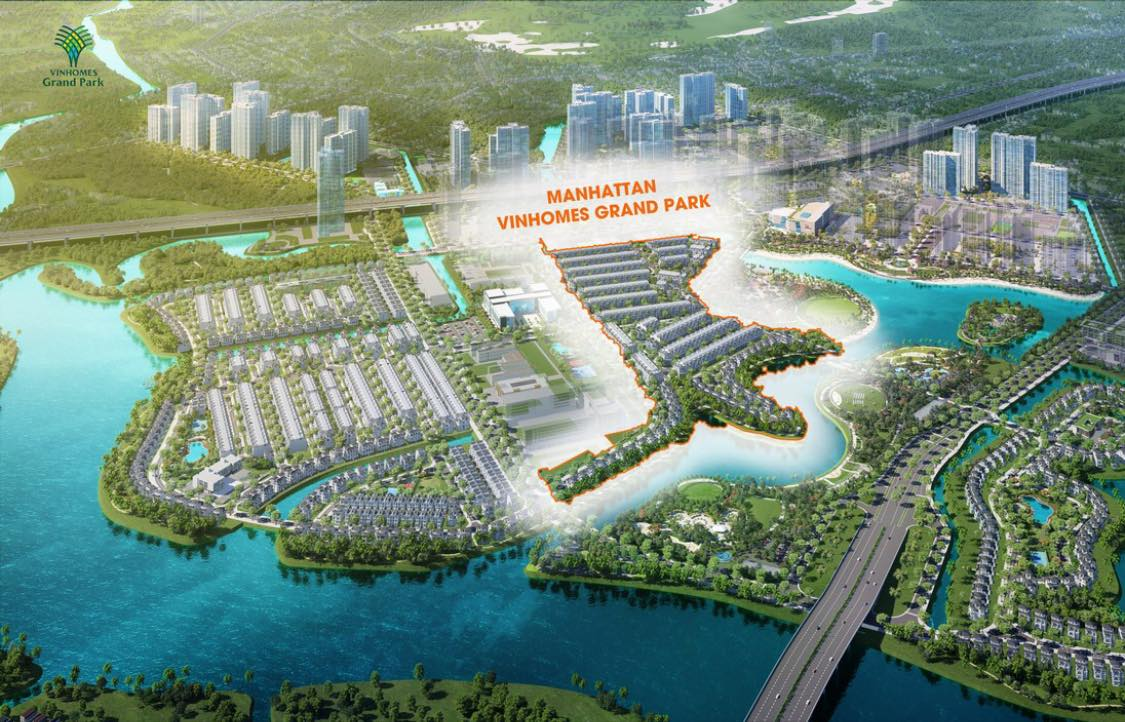 Vị trí dự án the manhattan vinhomes grand park quận 9