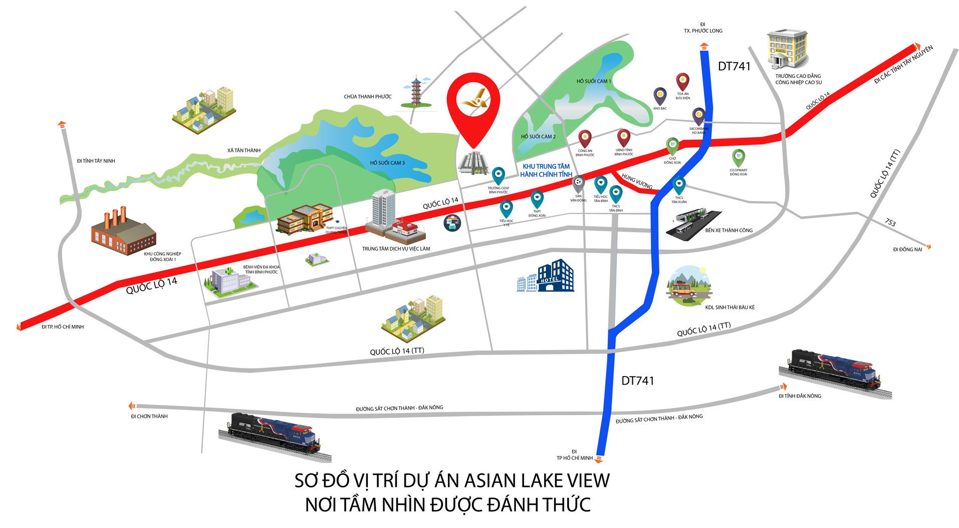 vị trí asian lake view