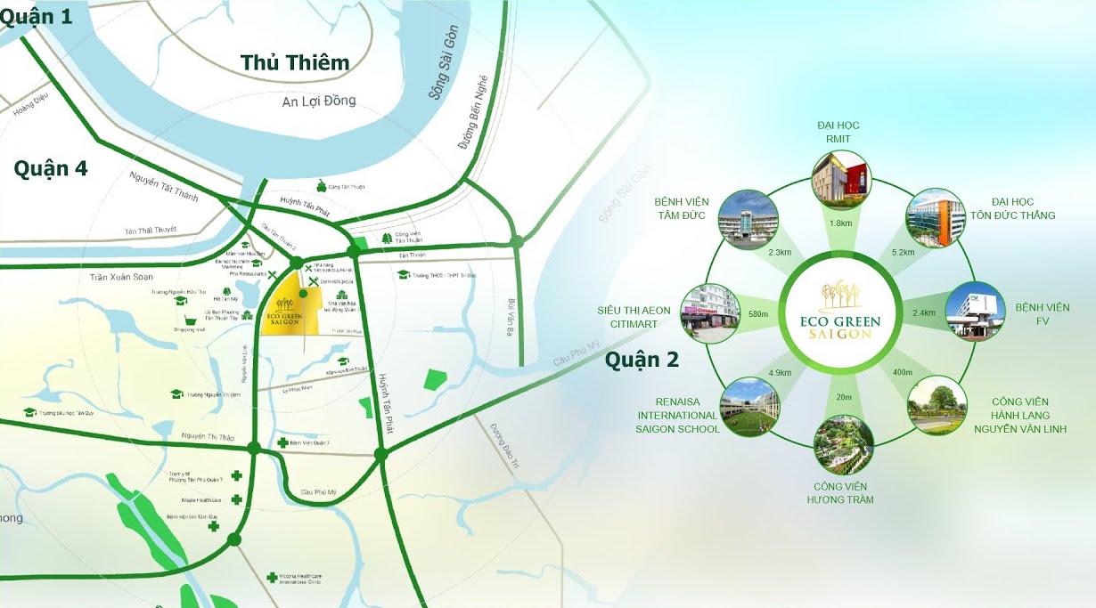 vị trí Eco Green Sài Gòn