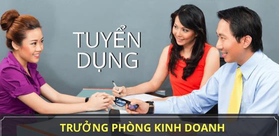 Tuyển dụng việc làm Tuyển Trưởng phòng Kinh doanh - TPKD