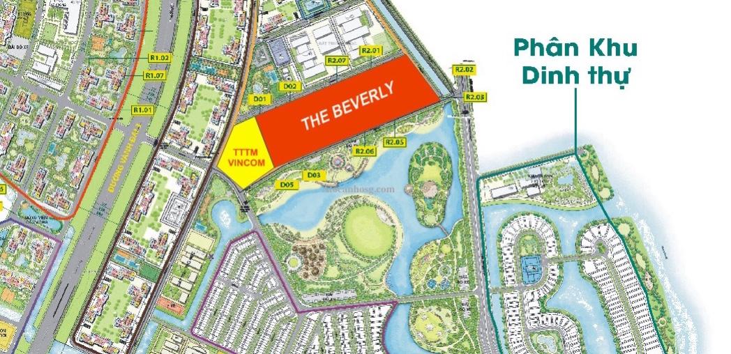 Vị trí The Beverly tại  Vinhomes Grand Park