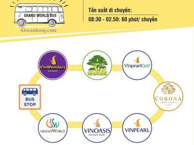 Thông tin tuyến xe buýt VinBus tại Phú Quốc United Center